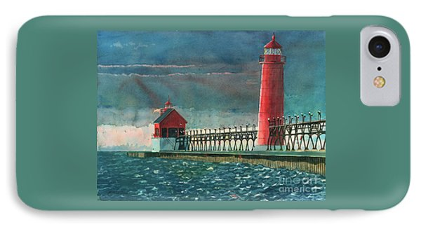 IPhone Case featuring the painting The Impending Storm by LeAnne Sowa
