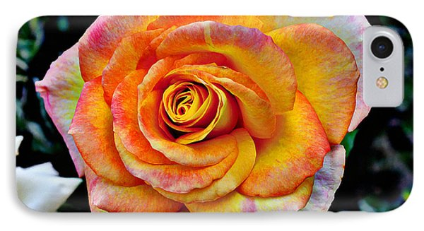 IPhone Case featuring the mixed media The Imperfect Rose by Glenn McCarthy