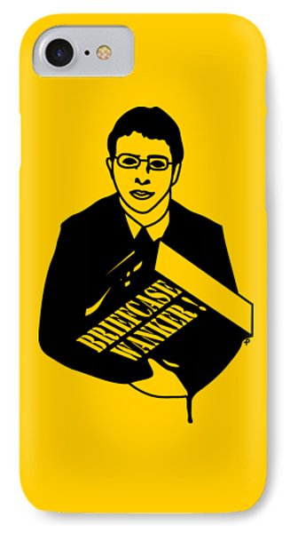 The Inbetweeners Briefcase Wanker IPhone Case by Paul Telling