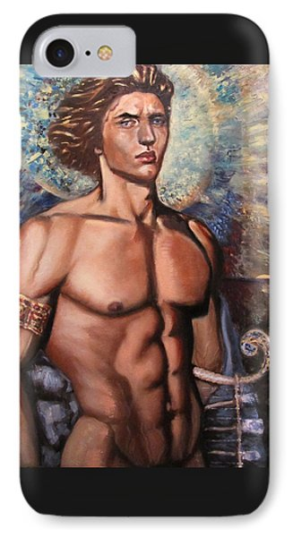 The Incarnation Of The Archangel Michael IPhone Case by Aleksei Gorbenko