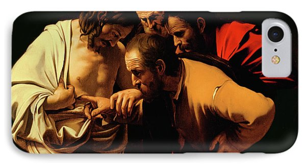 Jesus iPhone 7 Case - The Incredulity Of Saint Thomas by Caravaggio