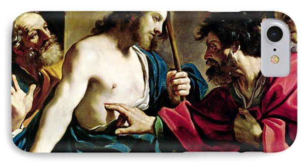 The Incredulity Of Saint Thomas IPhone Case by Guercino