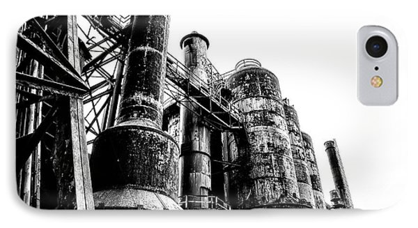 The Industrial Age At Bethlehem Steel In Black And White IPhone Case by Bill Cannon