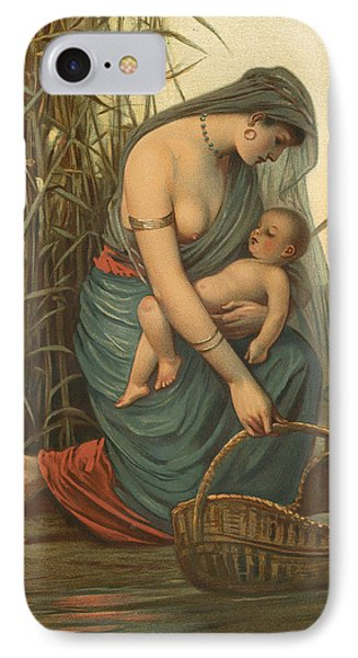 The Infant Moses And His Mother IPhone Case by Philip Richard Morris