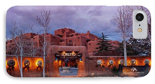 The Inn At Loretto At Twilight - Santa Fe New Mexico IPhone Case