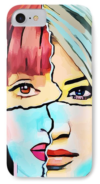 The Inner Struggle Split Personality Abstract IPhone Case