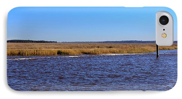The Intracoastal Waterway In The Georgia Low Country In Winter Phone Case by Louise Heusinkveld
