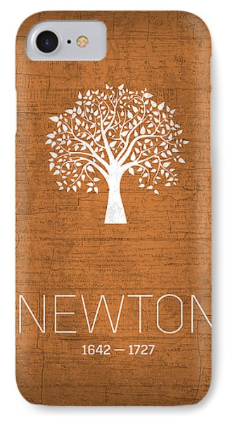 The Inventors Series 010 Newton IPhone Case by Design Turnpike