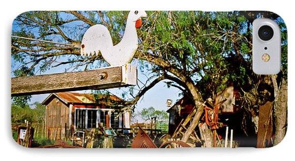 IPhone Case featuring the photograph The Iron Chicken by Linda Unger