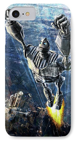 The Iron Giant IPhone Case by Andrea Gatti