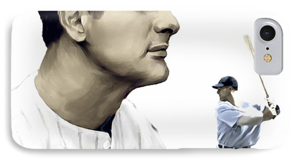 The Iron Horse  Lou Gehrig Phone Case by Iconic Images Art Gallery David Pucciarelli