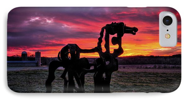 The Iron Horse Sun Up IPhone Case by Reid Callaway