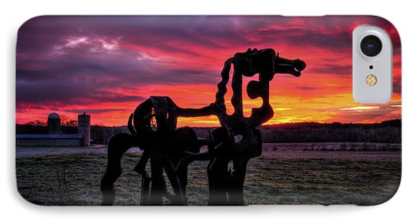 IPhone Case featuring the photograph The Iron Horse Sun Up by Reid Callaway