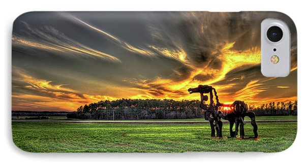 IPhone Case featuring the photograph The Iron Horse Sunset by Reid Callaway