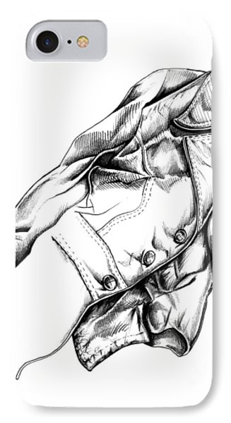 IPhone Case featuring the drawing The Jacket by Keith A Link