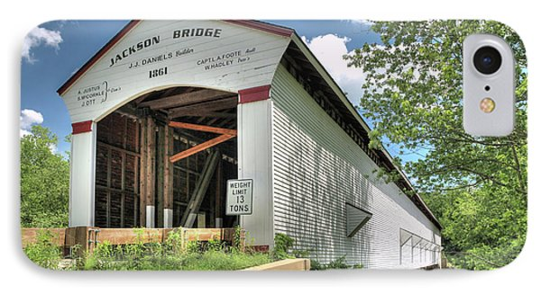 The Jackson Covered Bridge IPhone Case by Harold Rau
