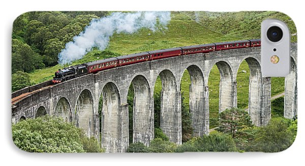 The Jacobite Crossing Glenfinnan Viaduct IPhone Case by Antony Meadley