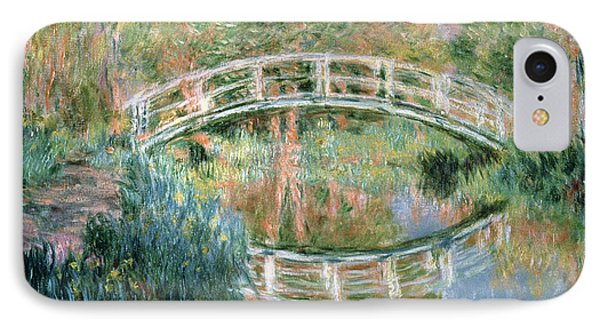 The Japanese Bridge IPhone Case by Claude Monet