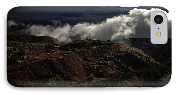 IPhone Case featuring the photograph The Jerome State Park With Low Lying Clouds After Storm by Ron Chilston