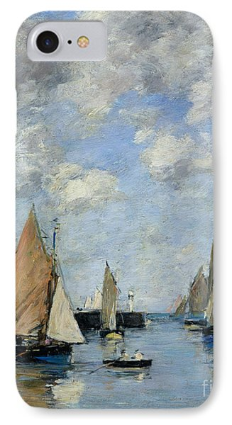 The Jetty At High Tide IPhone Case by Eugene Louis Boudin
