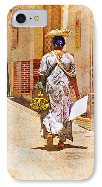 IPhone Case featuring the photograph The Jewelry Seller - Malaga Spain by Mary Machare