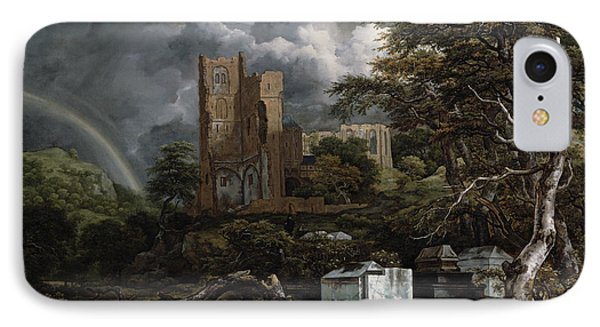 The Jewish Cemetery IPhone Case by Jacob Isaaksz Ruisdael