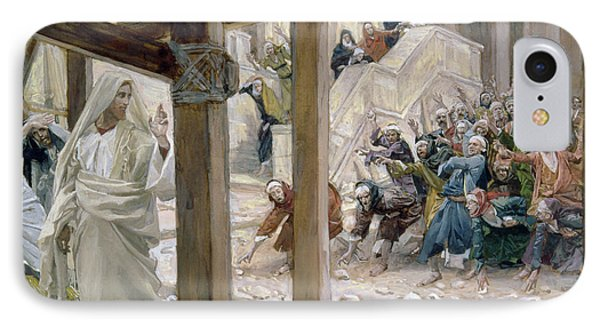 The Jews Took Up Stones To Cast At Him IPhone Case by Tissot