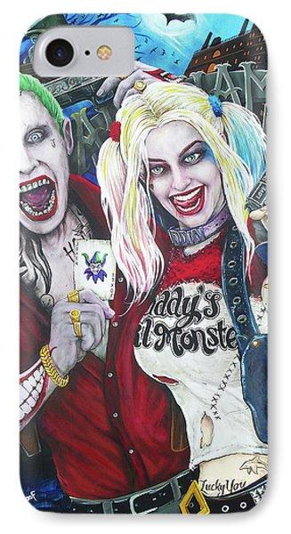 Ben Affleck iPhone 7 Case - The Joker And Harley Quinn by Michael Vanderhoof