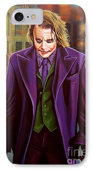 The Joker In Batman  IPhone 7 Case by Paul Meijering