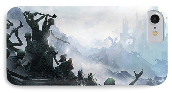 Dragon iPhone 7 Case - The Journey by Guillem H Pongiluppi