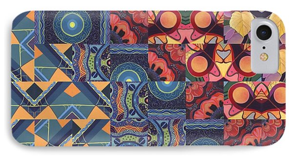 The Joy Of Design Mandala Series Puzzle 5 Arrangement 6 IPhone Case by Helena Tiainen