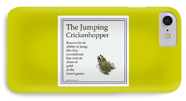 IPhone Case featuring the digital art The Jumping Crickenhopper by Graham Harrop