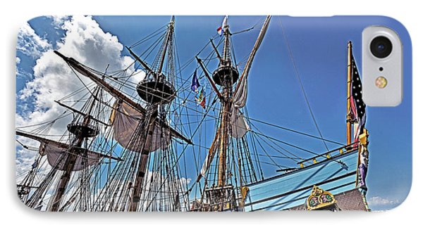 IPhone Case featuring the photograph The Kalmar Nyckel - Delaware by Brendan Reals