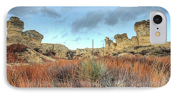 IPhone 7 Case featuring the photograph The Kansas Badlands by JC Findley