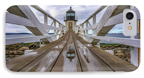 The Keeper's Walkway At Marshall Point In Color IPhone Case