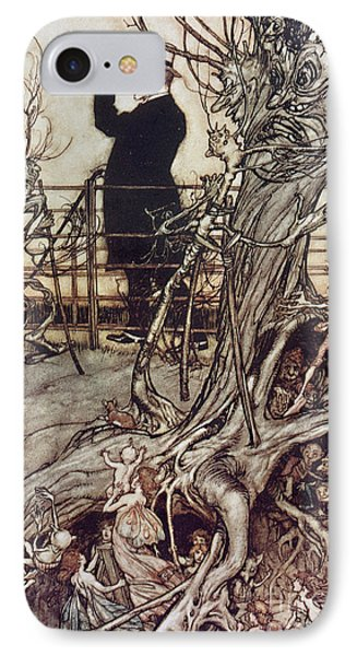 The Kensington Gardens Are In London Where The King Lives Phone Case by Arthur Rackham
