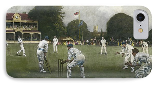 Cricket iPhone 7 Case - The Kent Eleven Champions, 1906 by Albert Chevallier Tayler