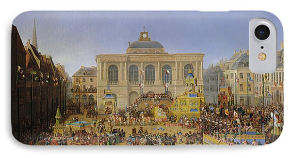The Kermesse At Saint-omer In 1846 Phone Case by Auguste Jacques Regnier