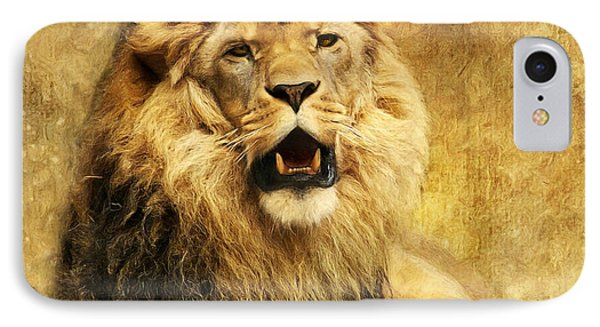 Lion iPhone 7 Case - The King by Angela Doelling AD DESIGN Photo and PhotoArt
