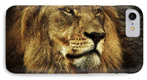 IPhone Case featuring the mixed media The King by Elaine Malott