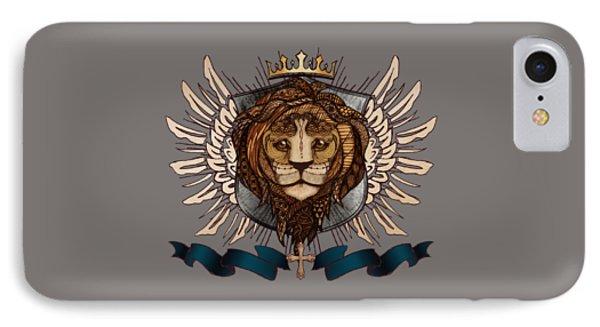 The King's Heraldry II IPhone Case by April Moen