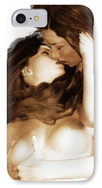 The Kiss By Mary Bassett IPhone Case by Mary Bassett