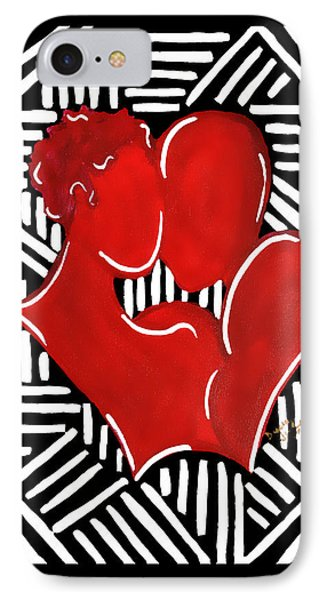 The Kiss IPhone Case by Diamin Nicole