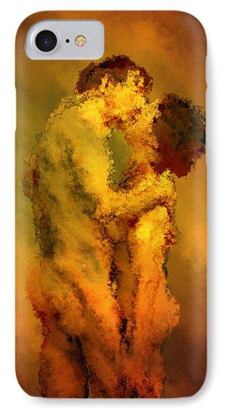 The Kiss Phone Case by Kurt Van Wagner