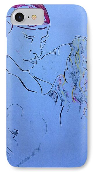 The Kiss IPhone Case by Contemporary Michael Angelo