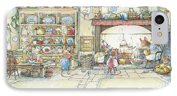 The Kitchen At Crabapple Cottage IPhone Case by Brambly Hedge