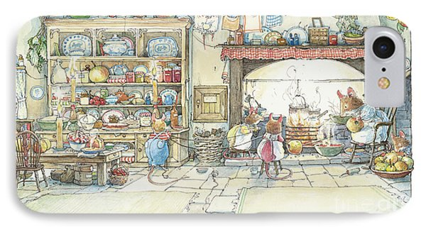 Apple iPhone 7 Case - The Kitchen At Crabapple Cottage by Brambly Hedge