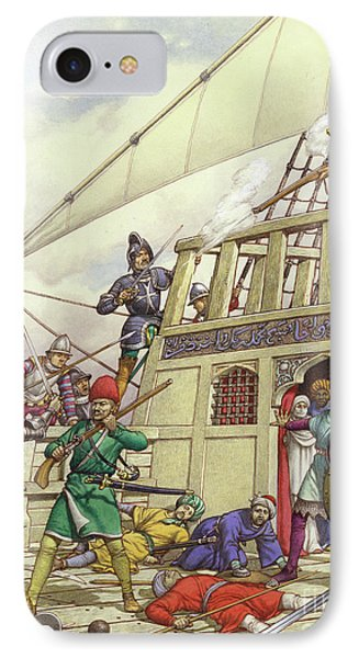 The Knights Of St John Seized Turkey's Finest Galleon, The Sultana IPhone Case