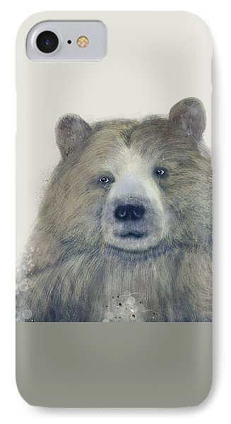 IPhone Case featuring the painting The Kodiak Bear by Bri B