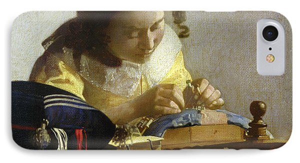The Lacemaker IPhone Case by Jan Vermeer